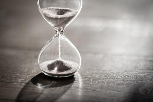 Geduld Symbol Sand Uhr Emotionale Abhängigkeit
