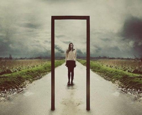 Spiegel deines Selbst Tür