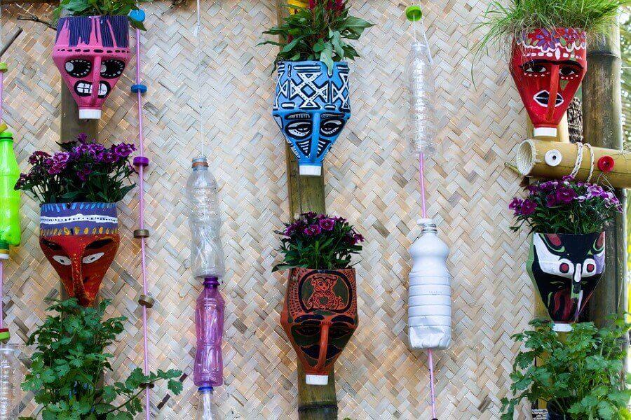 Tolle Töpfe aus recycelten Materialien basteln