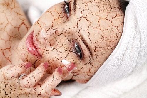 Zucker-Peeling für trockene Haut