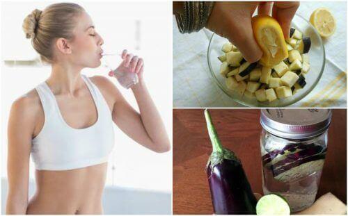 Zitronen- und Auberginenwasser für den Gewichtsverlust
