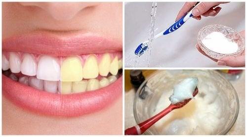 Natron für weißere Zähne
