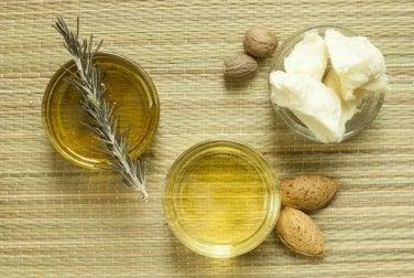 Naturprodukte zur Feuchtigkeitspflege: Sheabutter und Mandelöl