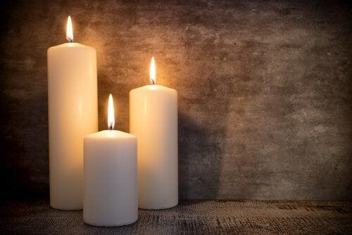Kerzen passen zum Vintagestil