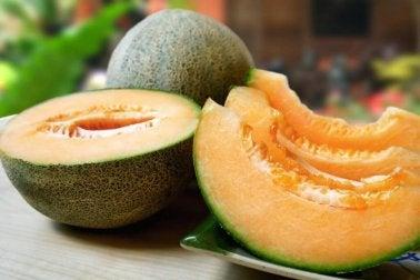 Melone und Milch