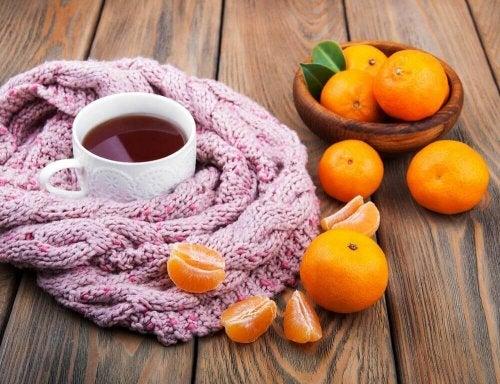 Nerventee enthält Mandarine