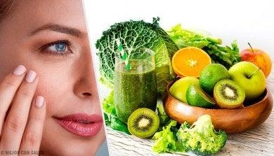 Obst für die Haut wirkt gegen Trockenheit.