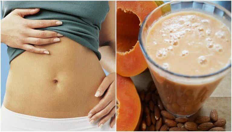 Verdauung verbessern mit Papaya-Mandelmilch-Smoothie