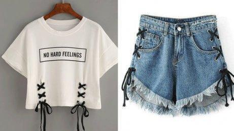 Alte Kleidung wiederverwenden für neuartige Shorts und Shirts