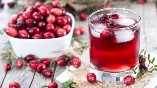 Gesunde Getränke zum Abnehmen mit Cranberries