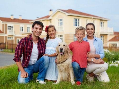ein Haustier hält die Familie fit