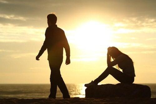 Verschiedene Arten von Trennungen und die Schmerzen