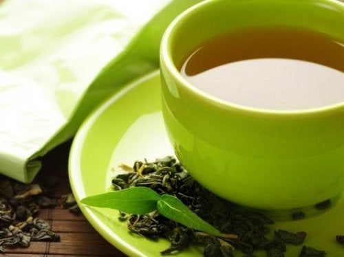 Natürliche Seifen mit grünem Tee