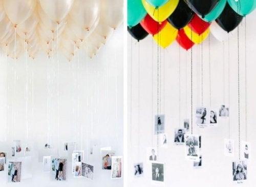 Luftballons mit Fotos