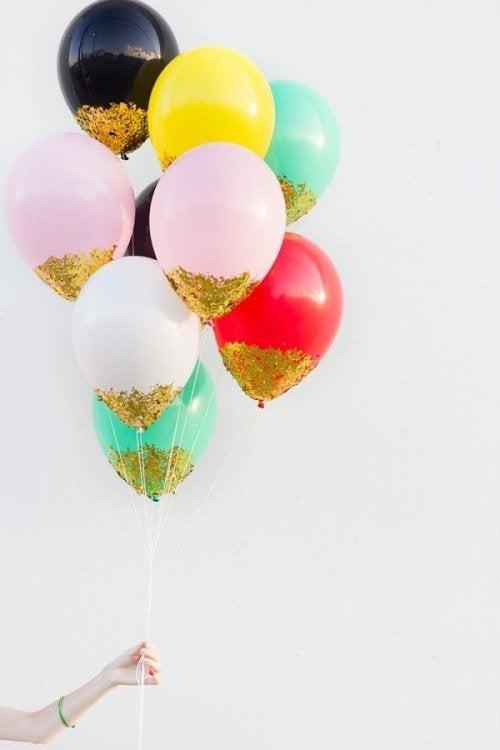 Luftballons mit Glanz