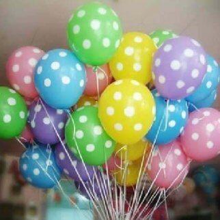 Luftballons mit Punkten