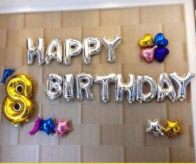 Geburtstag mit Ballons