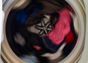 Wäsche in der Trommel
