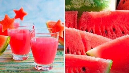Wassermelonen-Saft gegen Einlagerung von Wasser
