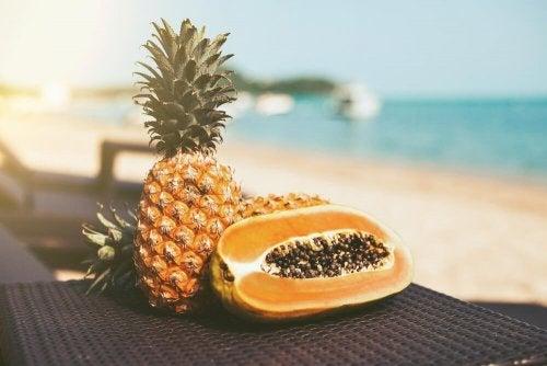Papaya mit Ananas