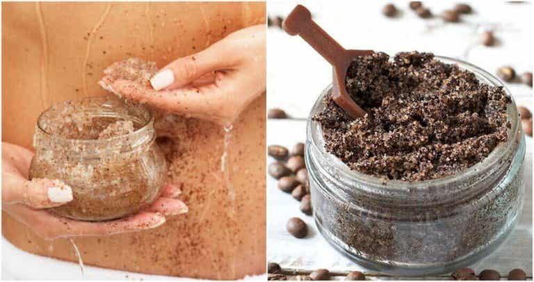 Peeling gegen Dehnungsstreifen mit Kaffee und Kokosöl