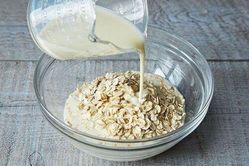 Peelings mit Reis: Hafer