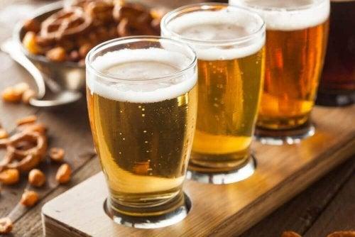 Bier in der Eier- und Bierkur