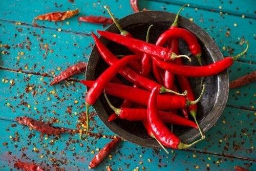 appetitzügelnde Lebensmittel: Chilischoten