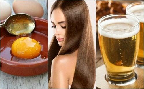 Haarkur mit Ei und Bier für seidigen Glanz