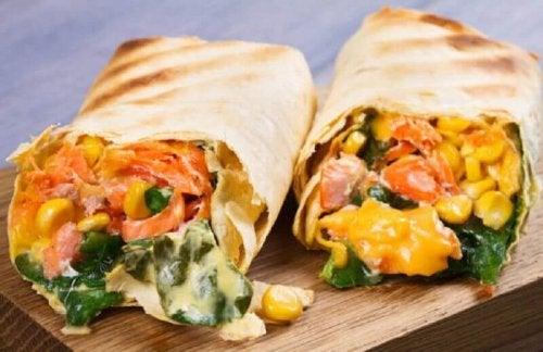 Süßmais Burritos
