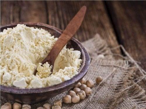 Glutenfreie Alternativen und Kichererbsenmehl