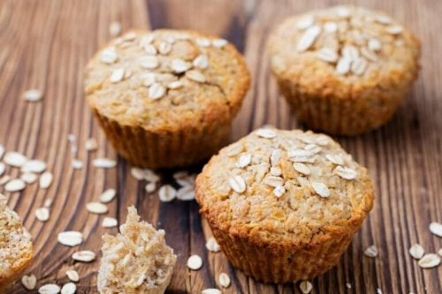 Haffer-Muffins ohne Gluten und Laktose.