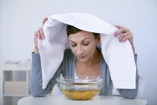 Pickel auf der Nase: Inhalieren