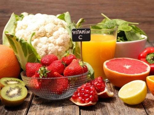 Vitamine sind gut für glatte Haut