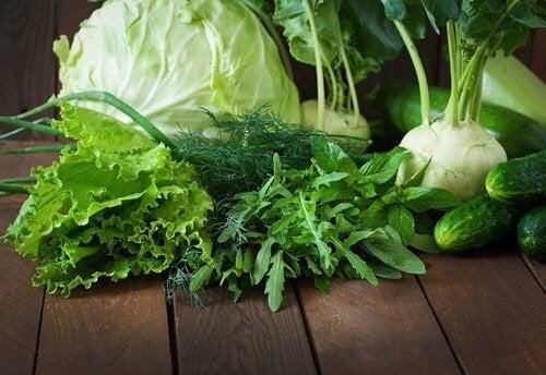 Das grüne Gemüse ist ein probiotisches Lebensmittel