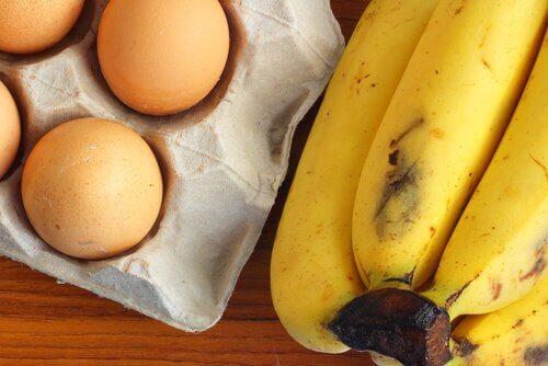 Zutaten für einfaches Bananenbrot
