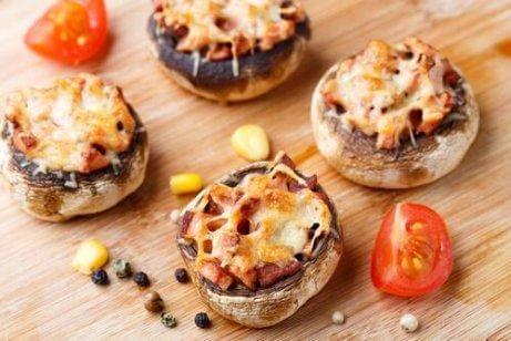 Gefüllte Pilze mit Bolognese-Füllung
