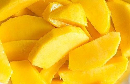 Mango für schnelle und einfache Salate