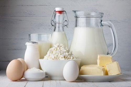 Lebensmittel mit wenig Kohlenhydraten: Milchprodukte