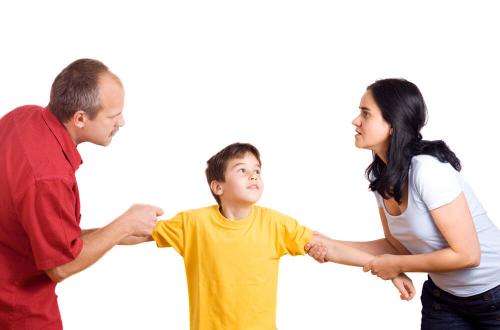 Wenn Eltern nicht wirklich da sind oder um das Kind streiten