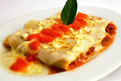 Zutaten für Cannelloni mit Hühnchen