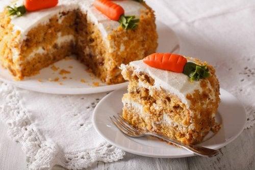 Leckerer Karottenkuchen ohne Ei und Fett