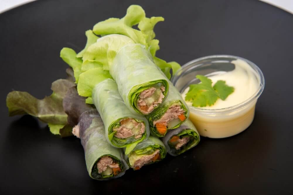 Low Carb Wraps als frischer Snack
