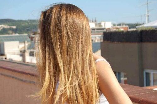 Sonne auf dem Haar