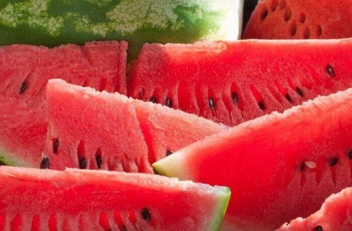 aufgeschnittene Wassermelone