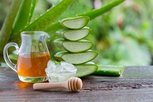 Naturheilmittel Honig und Aloe gegen Magenschmerzen