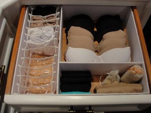 Unterwäsche aufbewahren