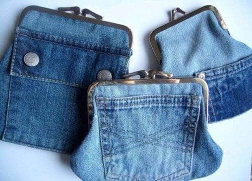 Portemonnaies au alten Jeans