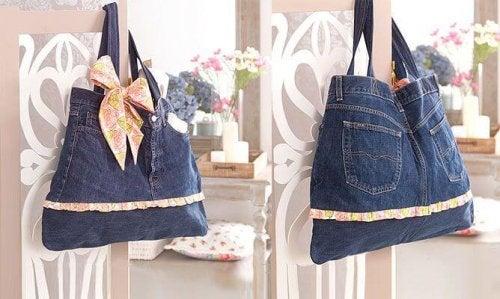 Hübsche Handtaschen aus alten Jeans