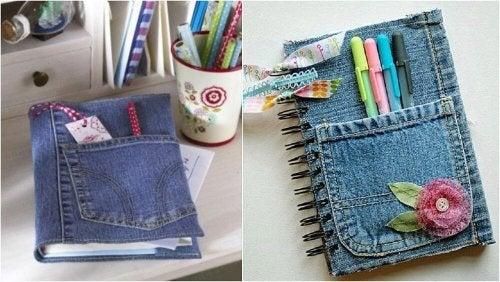 Notizbücher aus alten Jeans